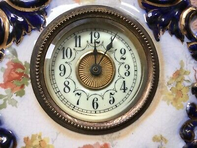 Antique porclaine clock, original mangel piece cc1900, requires repair.
