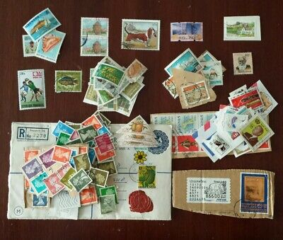 Bundle of various Unchecked Foreign & UK Used Stamps - Collection of 50+