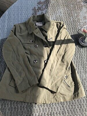 Next Girls Khaki Green Jacket Coat Age 11