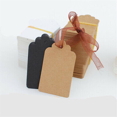 100-500pcs Kraft Paper Hang Tags Birthday Party Favor Gift Label DIY Cards New