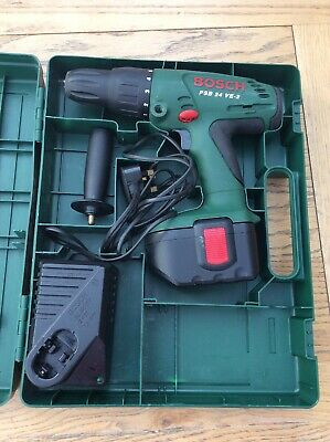 Bosch Cordless Drill Bosch PSB 24 VE-2 In Case With Charger LOOK