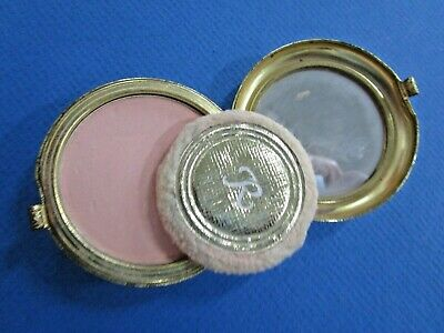 "Vintage Ladies ""Revlon""  Powder Compact in Gold Tone"