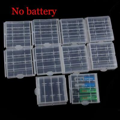 10pcs Hard Plastic Clear Case Cover Holder AA/AAA Battery Storage Box New