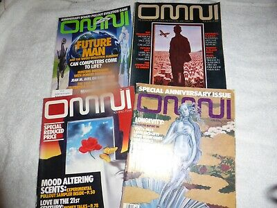 Omni Science Magazines-Inc Anniversary Issue & Free Evolution Game From 1991