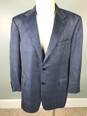 CANALI ITALY MENS SUIT JACKET BLAZER SPORTS COAT Silk Wool Blend