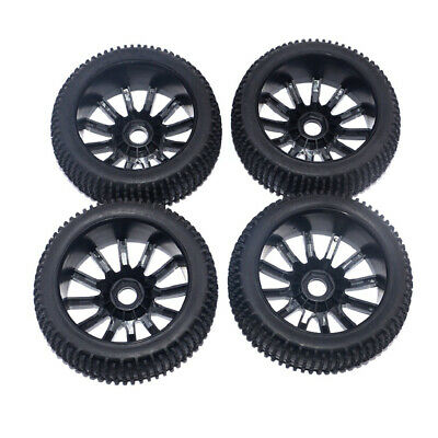 4 Pieces 17mm Hub Wheel Rim and Tires 1:8 Scale  RC Car Buggy Tyre