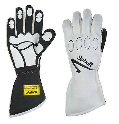 Sabelt Nomex FIA Gloves FG-500 Black/White Size 12 Extra Large