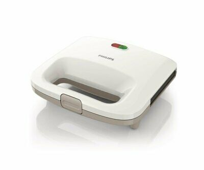 Philips HD2395/00 Daily Collection Sandwich Maker 820W with Panini Plate, White