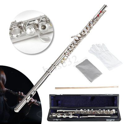 17 Open Hole Silver Plated Flute with Split E Mechanism Offset-G Keys and B Foot
