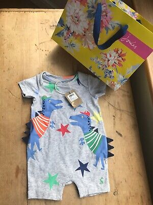 Joules Baby Boys Summer Romper Dinosaur Outfit 3-6 Months BNWT NEW WITH TAGS Boy