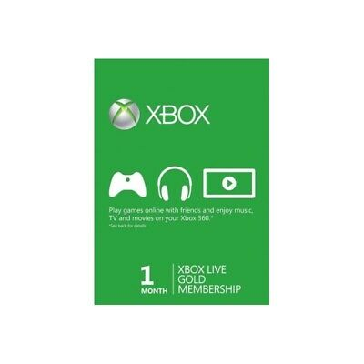 Xbox Live Gold 1 Month Global Membership(2x14 Day)Xbox One, 360 INSTANT DELIVERY