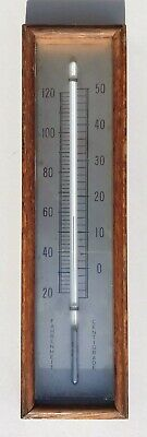 Barometer Thermoeter Will Silvered Scale