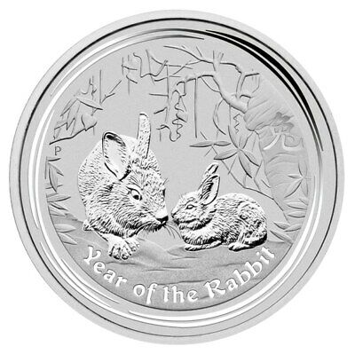 2011 Year of the Rabbit 1oz .9999 Silver Bullion Coin - Lunar Series II - PM
