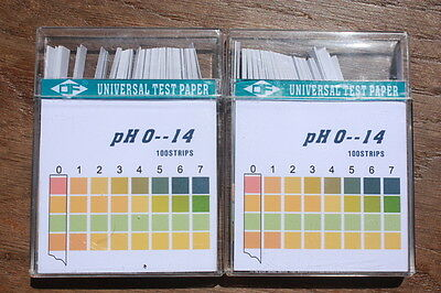 2x100 universal color fixed pH Indicator Strips Universal pH 0 to pH 14, DF