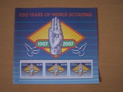 Dominica,2007,100 Years Of Scouting,$10.50 Sheetlet,u/mint,excellent.