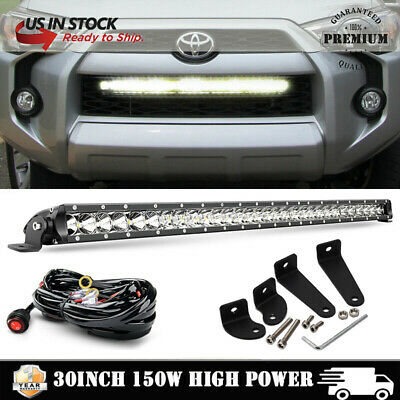 """150W 30""""INCH Behind Grille LED Light Bar +Wiring Kits For 2014-up Toyota 4Runner"""