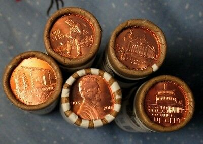 Lp Set Of Pennies -  10 Coins Total Out Of Mint Rolls       Free Shipping !