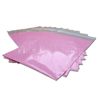 """50 x PINK Mailing Bags 10x14""""(250x350mm) POSTAL PACKAGING Cheap Low Cost Postal"""