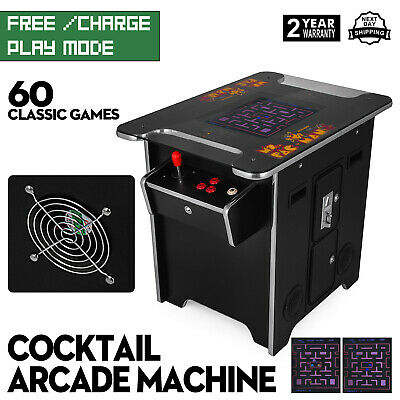 Cocktail Arcade Machine with 60 Classic Games 2 Joystick 19 Inch Screen
