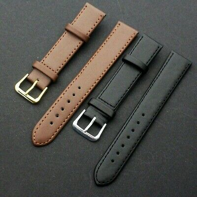 Mens Womens Genuine Leather Watch Band Strap Watchband with Steel Buckle Vintage