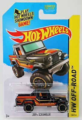 Hot Wheels Jeep Scrambler HW Off-Road 2014 Series #BFF79 New NRFP Black 1:64