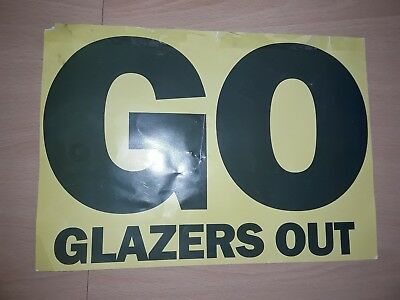 Manchester United Glazers Out Campaign Original Genuine Flyer Given Out At Games