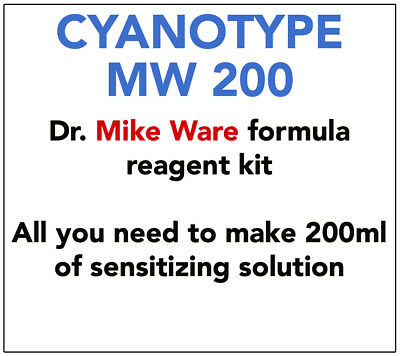 MIKE WARE FORMULA CYANOTYPE KIT  -   FOR  200-300 ml SENSITIZER SOLUTION