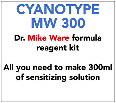 MIKE WARE FORMULA CYANOTYPE KIT  -   FOR  300-400 ml SENSITIZER SOLUTION