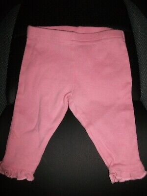 Next Baby Girls Pink Leggings with Frill to Hem - Up To 1 Month