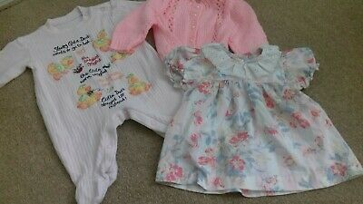 Vintage Baby Clothing Bundle Girls 0-3🌼