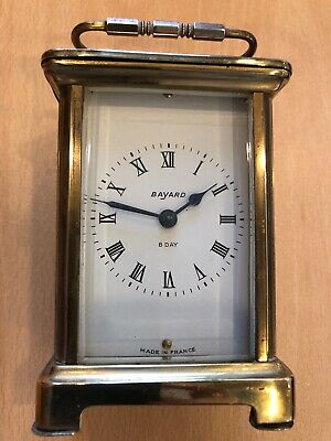 Bayard,8 day French Carriage clock,brass,bevelled glass ,working