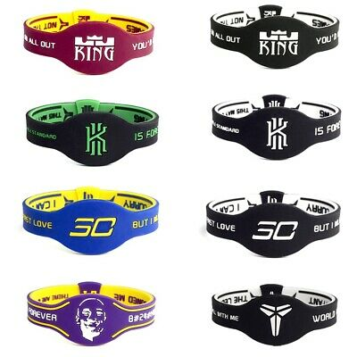 723466e31c911 4PCS STEPHEN CURRY Bracelets Wristband Silicone Rubber Sport ...