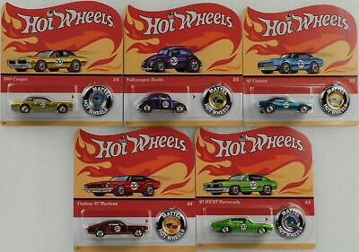 Hot Wheels Classic 50th anniversary Redline Set 5 pcs mit Button 1:64