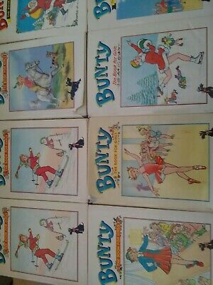 8 Bunty Annuals, including 2 copies of 1963