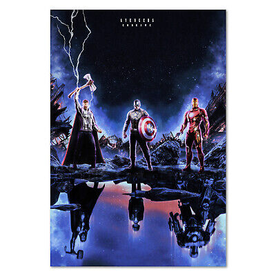 Avengers Endgame Movie Poster - Thor, Captain America, Iron man Exclusive Art