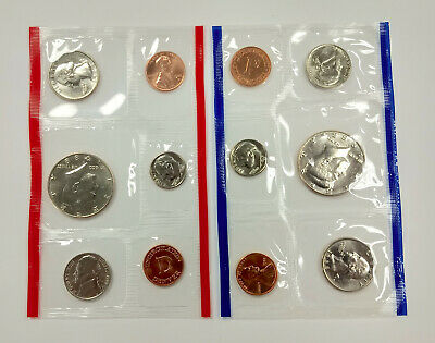 United States Mint 1988 Uncirculated Coin Set P & D