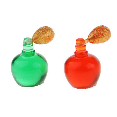 1/12 Miniature Perfume Bottles Dollhouse Lady People Figures Accessory 2pcs