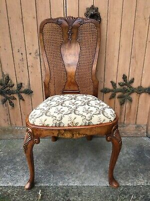 Exquisite Shell Carved Georgian Burr Walnut Library Desk Throne Chair George III