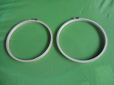 Two New Wooden Tapestry/embroidery Circular Ring Frames  Thumbscrew Tightening