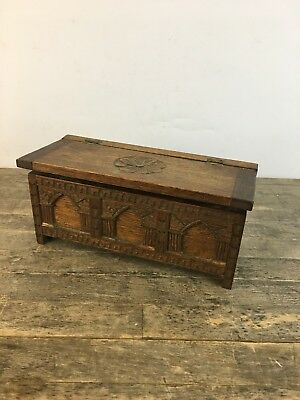 Vintage Handcrafted French Coffer Chest Apprentice Piece With Music Box Inserted