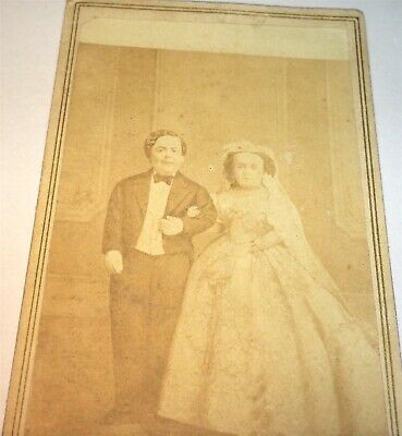 Antique Victorian American Famous Circus Little Person Tom Thumb Wife CDV Photo!