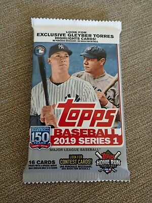 2019 Topps Series 1 Baseball Hot Pack! Guaranteed Jersey/Relic or Auto/Autograph