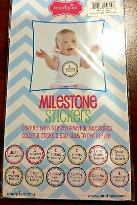 NWT Mud Pie Baby Girl Milestone Numbers Sticker Sets Months /& Baby/'s Firsts