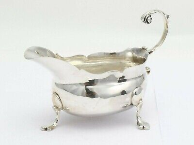 George III Newcastle 1767-70 by John Hutchinson of Durham, silver sauce boat