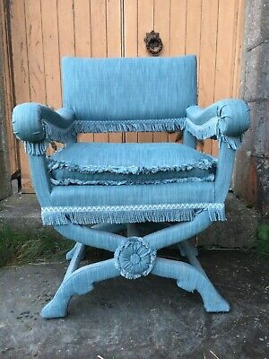 Mid 17th Century Coffermakers Upholders Throne Library Chair X Frame Armchair