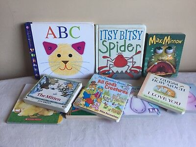 Mixed Lot Of 10 Preschool Board Books Daycare Toddler ABC Itsy Bitsy Spider