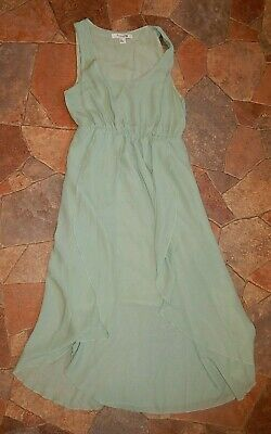 a92e9804ab89 Forever 21 women's green empire waist dress sleeveless layered size small
