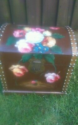 Fabulous Painted Trunk /Chest /Blanket Box