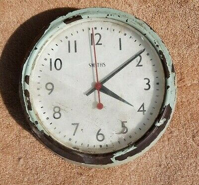 Vintage Smiths wall clock (untested)