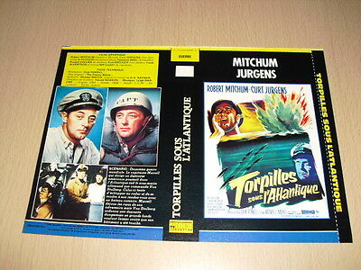 JAQUETTE VHS Torpilles sous l'Atlantique (The Enemy Below) Robert Mitchum